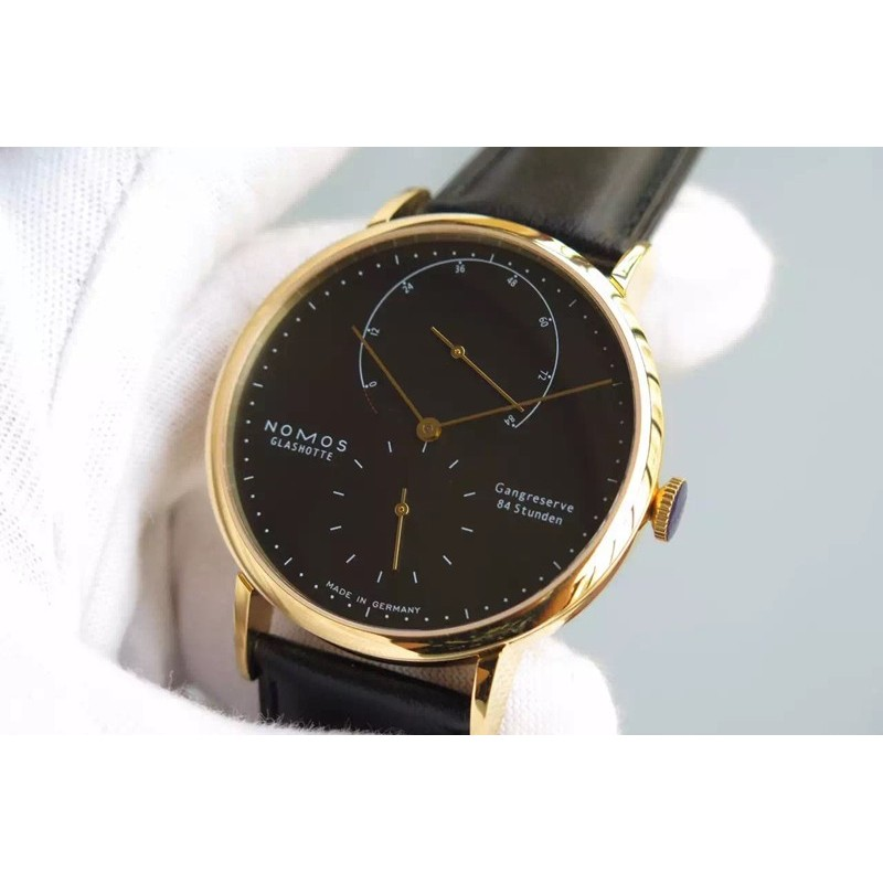 Replica Nomos Lambda Yellow Gold Black Dial German DUW 1001 82448