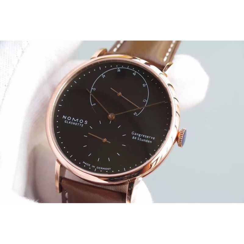 Replica Nomos Lambda Rose Gold Black Dial German DUW 1001 82447