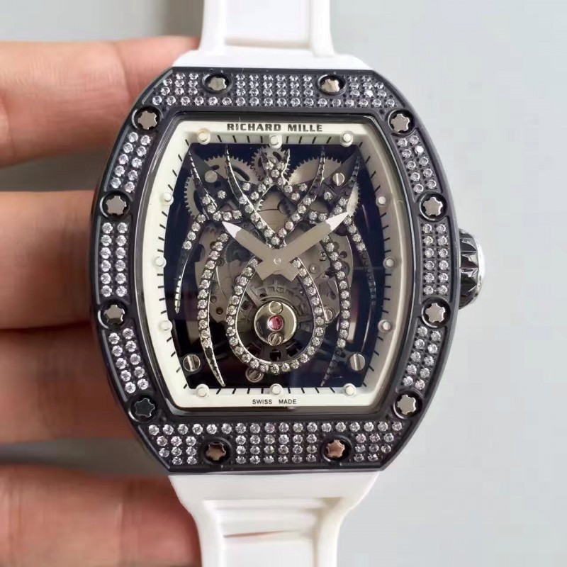 Replica Richard Mille 19-01 Sf Pvd Diamant Diamant Spyder Zifferblatt M6T51 81398