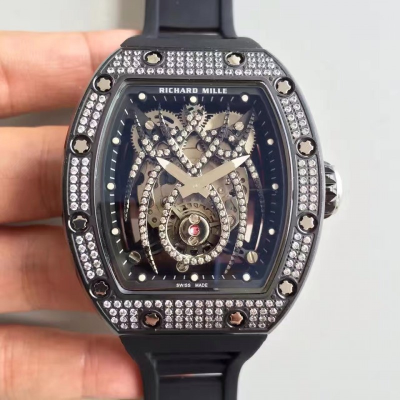 Replica Richard Mille 19-01 Sf Pvd Diamant Diamant Spyder Zifferblatt M6T51 81395