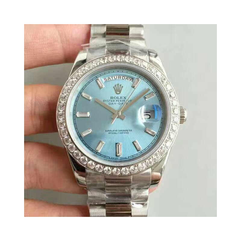 Replica Rolex Day-Date 40 228396Tbr 40Mm Kw Edelstahl Diamanten Blaues Zifferblatt Swiss 3255 80904