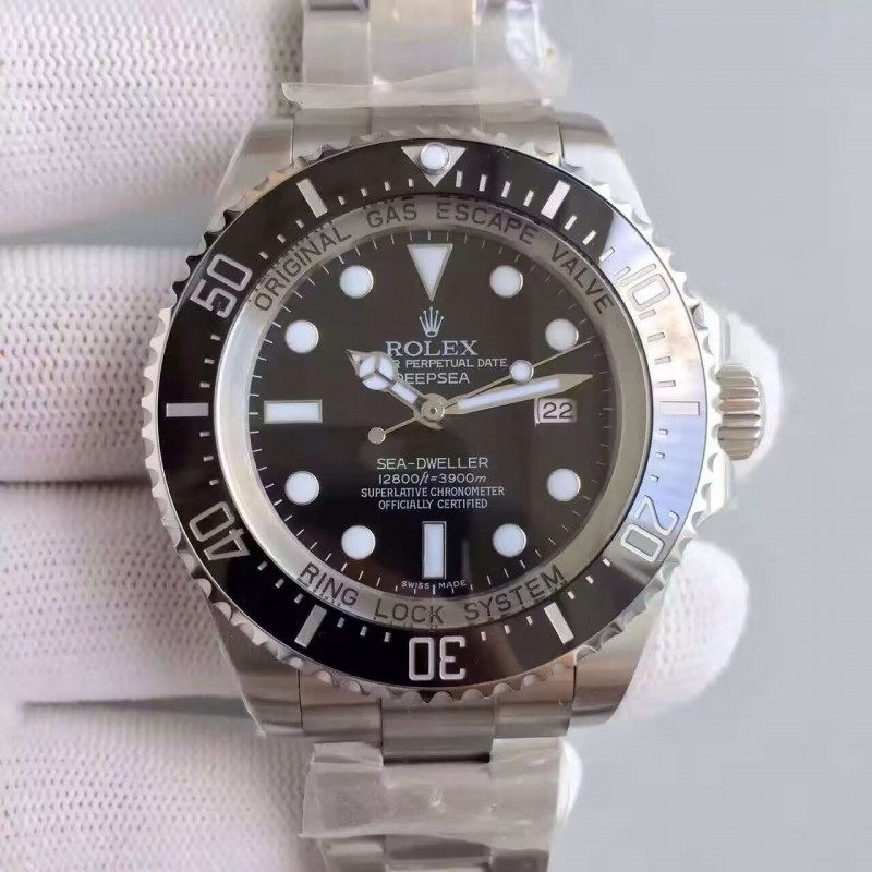 Replica Rolex Deepsea 116660 V7 Stainless Steel Black Dial Swiss 3135 80703