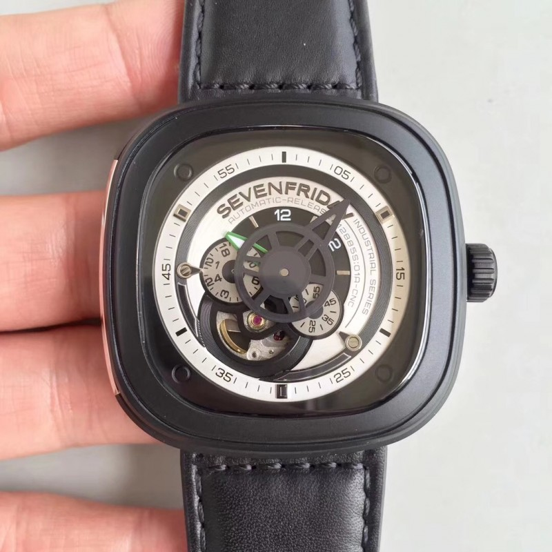 Replica Sevenfriday Sf / P3 N Pvd Weißes Zifferblatt Miyota 82S7 80507