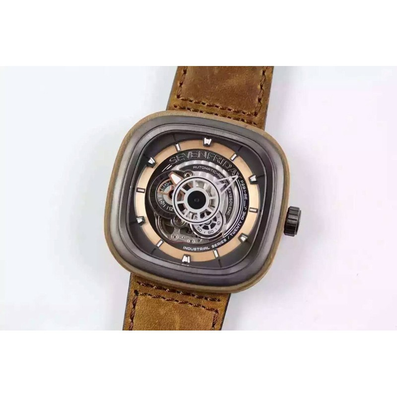 Replica Sevenfriday P2B / 03-W Holz Gold Zifferblatt Miyota 82S7 80498