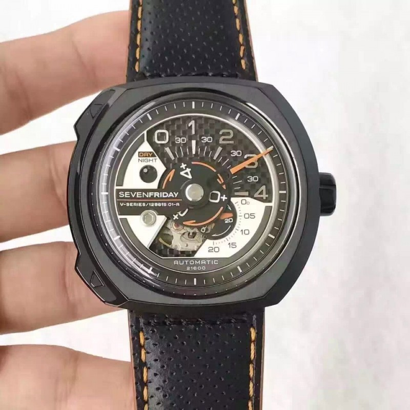 Replica Sevenfriday V Series V3 / 02 Golf Laufen Limited Edition Pvd Kohlefaser Dial Miyota 82S7 80491