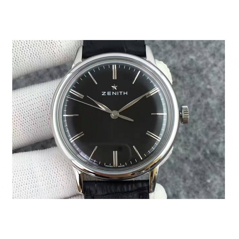 Replica Zenith Elite 6150 03.2270.6150/01.C493 Stainless Steel Black Dial Swiss Elite 6150 80044