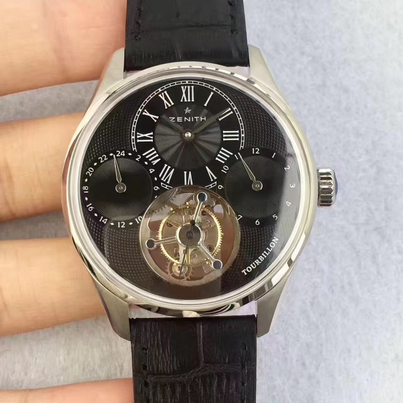 Replica Zenith El Primero Tourbillon BP Stainless Steel Black Dial Swiss Tourbillon 80056