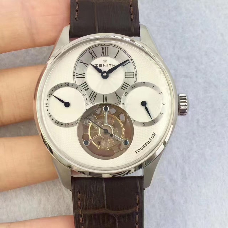 Replica Zenith El Primero Tourbillon BP Stainless Steel White Dial Swiss Tourbillon 80006