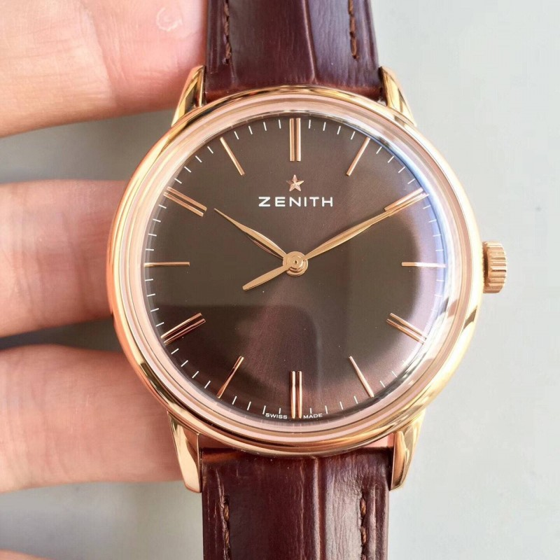Replica Zenith Elite 6150 150Th Anniversary 18.2270.6150 / 01.C498 Nd Rose Gold Schokoladenzifferblatt Swiss Elite 6150 80041