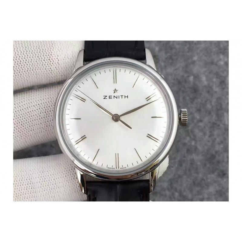 Replica Zenith Elite 6150 03.2270.6150/01.C493 Stainless Steel White Dial Swiss Elite 6150 80037