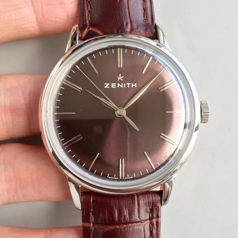 Replica Zenith Elite 6150 150Th Anniversary 03.2272.6150 / 51.C700 Nd Edelstahl Schoko-Zifferblatt Swiss Elite 6150 80036